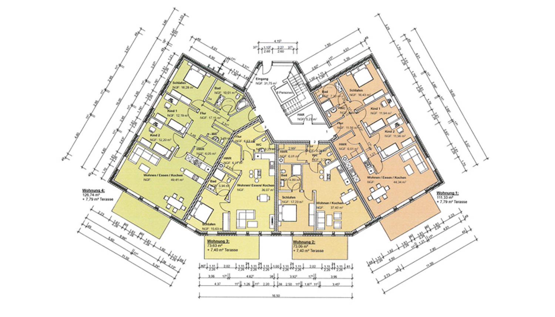 Grundrisszeichnung vom Erdgeschoss